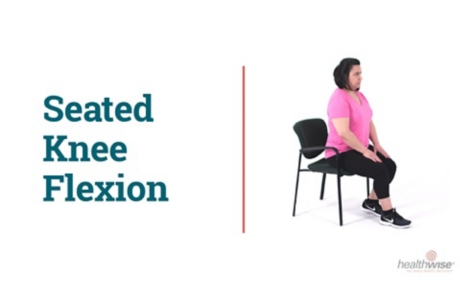 How to Do the Knee Flexion Stretch While Sitting