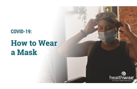 COVID-19: How to Wear a Cloth Face Cover or a Mask