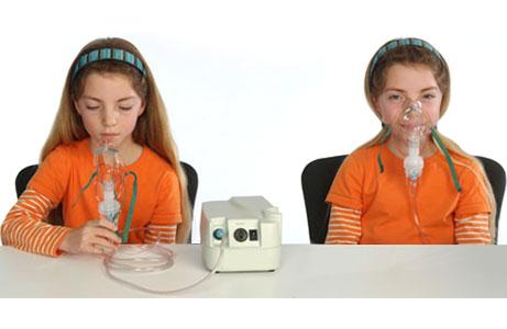 A nebulizer and a face mask