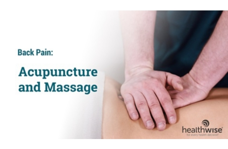 Acupuncture and Massage for Back Pain