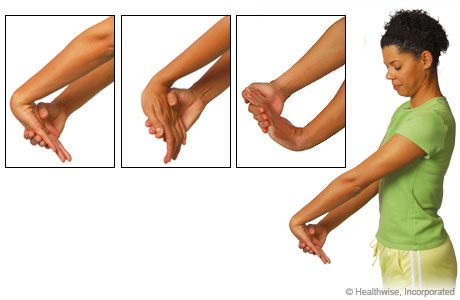 Stretches to ease wrist and arm aches and fatigue