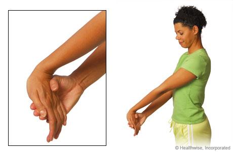 Wrist flexor stretch exercise