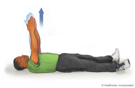 Scapular exercise: Arm reach