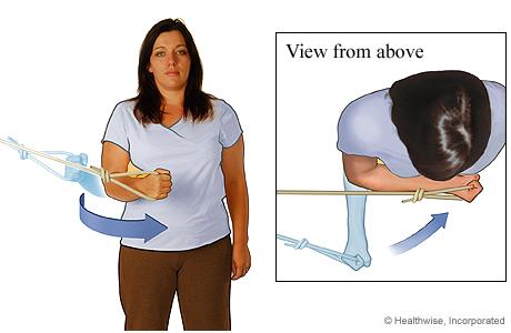 Internal rotator strengthening exercise