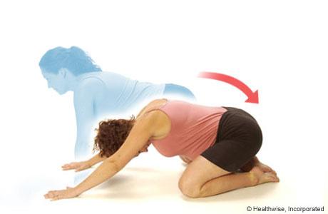 Backward-stretch exercise