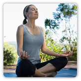 Photo of a woman doing yoga