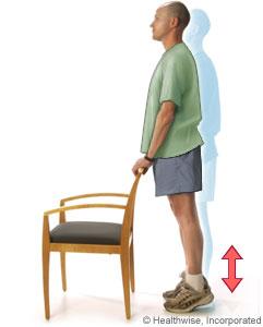Man doing heel raises